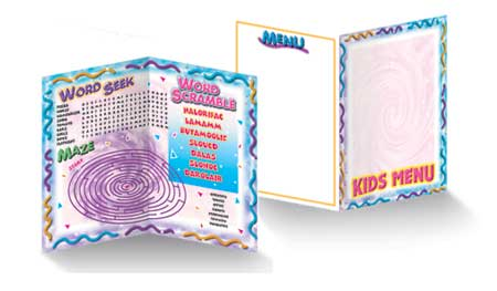 Kids Menus - Theme 172