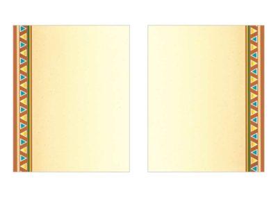 Border Menu Paper 134