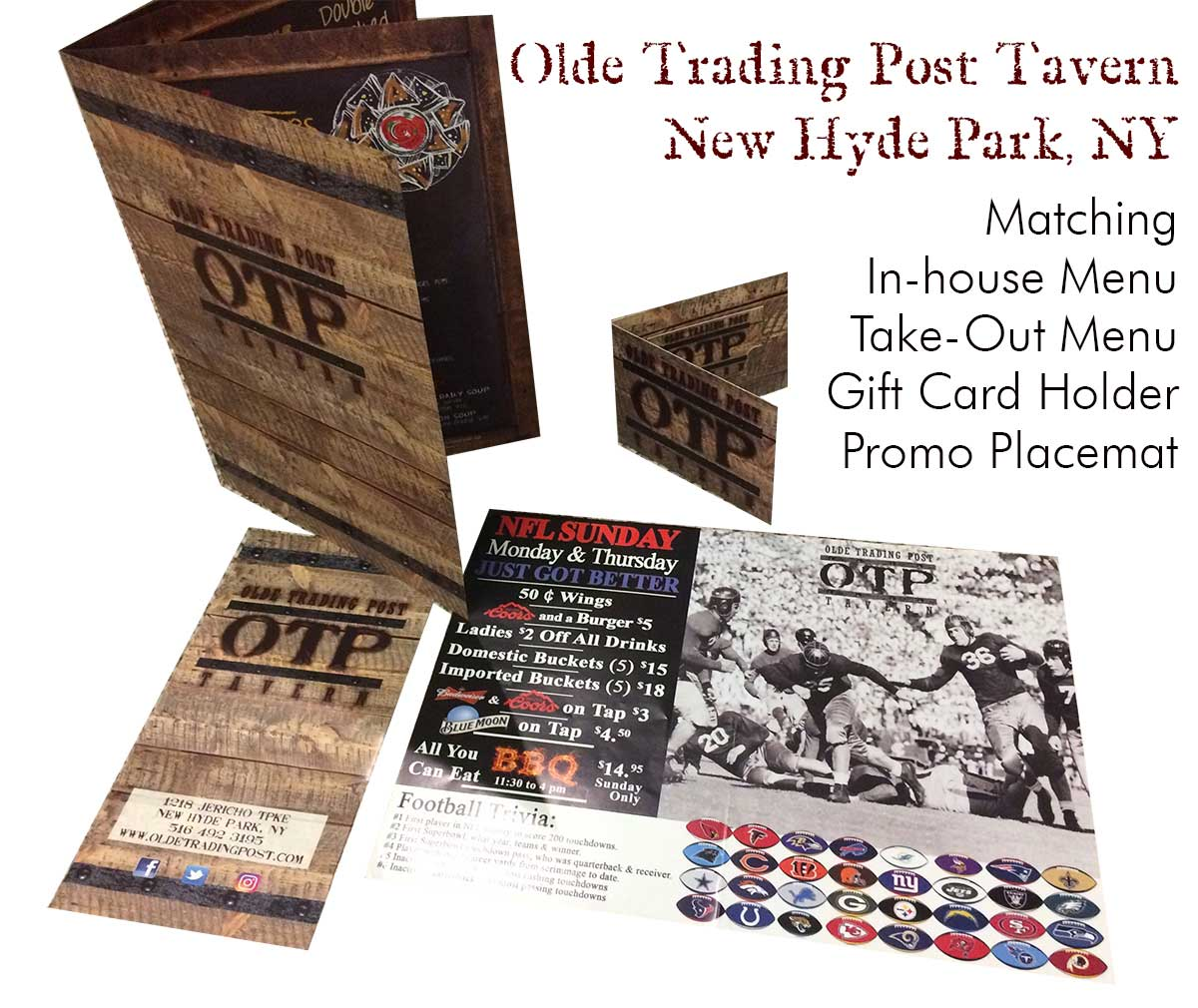 Olde Trading Post Tavern - The Menu Store Previous Clients